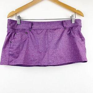 ATHLETA Purple Heathered Skort Pockets Belt Loop M